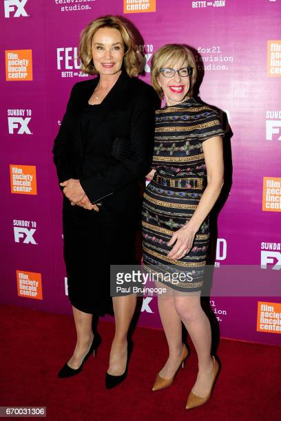 Jessica Lange and Jackie Hoffman attend the Latin History For Morons Opening Night Celebration at The Public Theater on March 27 2017 in New York City