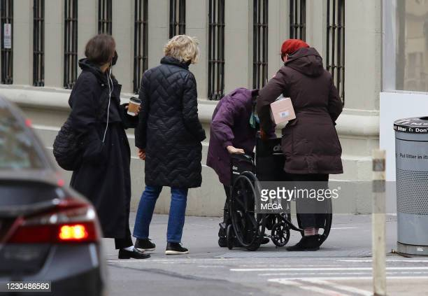 Jessica Lange and Susan Sarandon are seen on January 8, 2021 in New York City, New York.