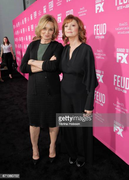 Jessica Lange and Susan Sarandon attend FX's 'Feud Bette And Joan' FYC event at The Wilshire Ebell Theatre on April 21 2017 in Los Angeles California