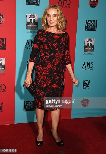 Jessica Lange arrives at the American Horror Story Freak Show Los Angeles Premiere at TCL Chinese Theatre IMAX on October 5 2014 in Hollywood...