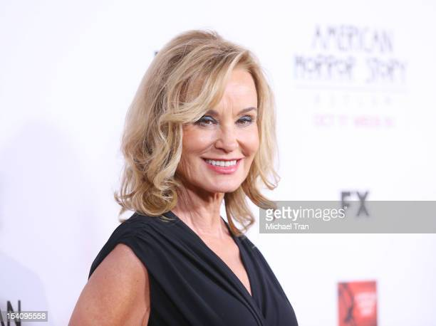 Jessica Lange arrives at the Los Angeles premiere of 'American Horror Story Asylum' held at Paramount Studios on October 13 2012 in Hollywood...