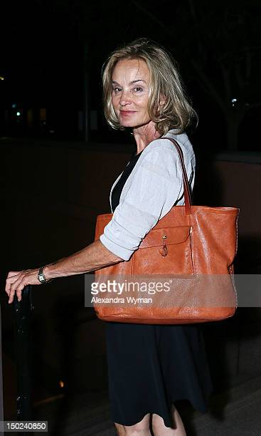 Jessica Lange at 'Red' Los Angeles Opening Night Performance after party held at MOCA Grand Avenue on August 12 2012 in Los Angeles California