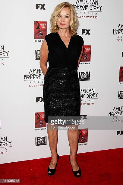 Jessica Lange attends the American Horror Story Asylum Los Angeles premiere held at Paramount Studios on October 13 2012 in Hollywood California