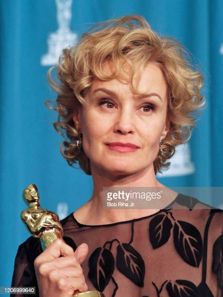 Jessica Lange backstage at the Shrine Auditorium during the 67th Annual Academy Awards March 271995 in Los Angeles California