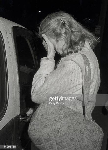 Jessica Lange during Jessica Lange and Sam Shepard Sighted at the Port Restaurant in West Hollywood California January 27 1982 at Port Restauarant in...