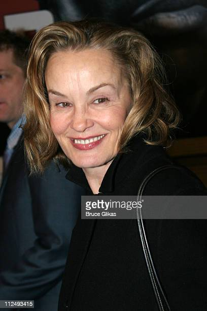 Jessica Lange during 'Julius Caesar' on Broadway Arrivals April 3 2005 at The Belasco Theater in New York City New York United States