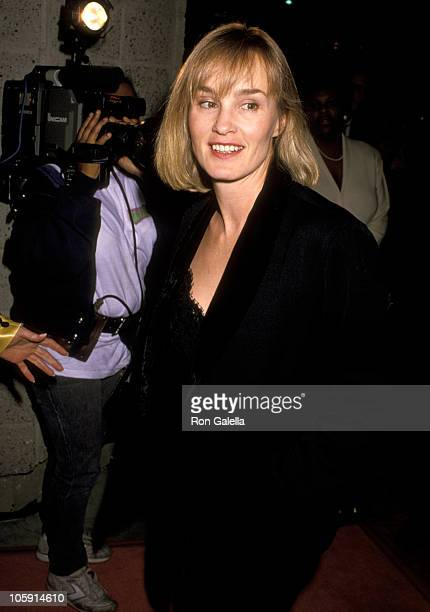 """Jessica Lange during Premiere of """"Music Box"""" at Academy Theater in Beverly Hills, California, United States."""