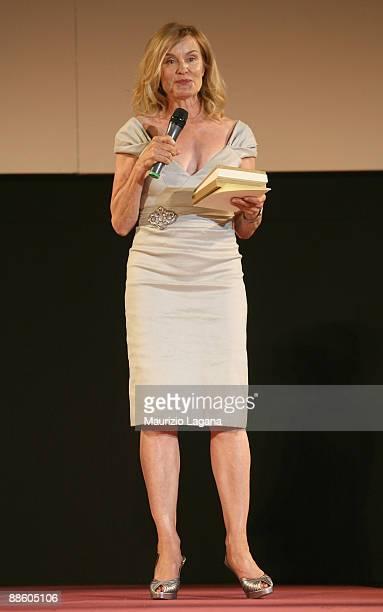 Jessica Lange receives the Taormina Art Award during Taormina Film Fest on June 20 2009 in Taormina Italy