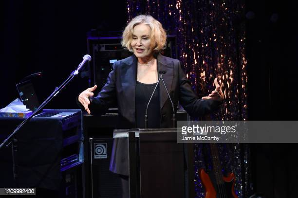 Jessica Lange speaks onstage at the Roundabout Theater's 2020 Gala at The Ziegfeld Ballroom on March 02, 2020 in New York City.