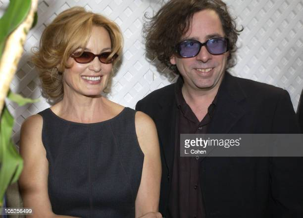 Jessica Lange Tim Burton during 10th Annual Premiere Women In Hollywood Luncheon at Four Seasons Hotel in Los Angeles California United States