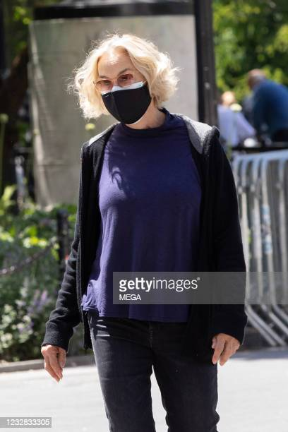 Jessica Lange walks in the city on May 11, 2021 in New York City, New York.