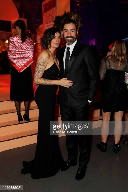 Jessica Lemaire and Robert Pirès attend Naked Heart Foundation's Fund Fair with LuisaViaRoma at The Roundhouse on February 18 2019 in London England