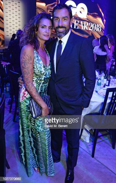 Jessica Lemarie and Robert Pires attend the GQ Men of the Year Awards 2018 in association with HUGO BOSS at Tate Modern on September 5 2018 in London...