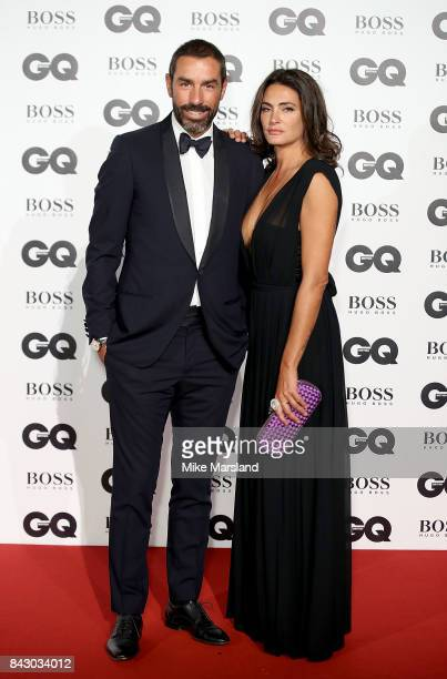 Jessica Lemarie and Robert Pires attend the GQ Men Of The Year Awards at Tate Modern on September 5 2017 in London England