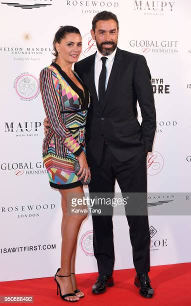 Jessica Lemarie and Robert Pires attend The Nelson Mandela Global Gift Gala at Rosewood London on April 24, 2018 in London, England.