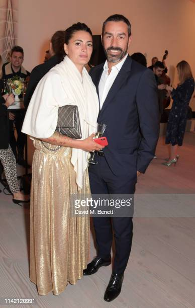 "Jessica Lemarie and Robert Pires attend the Premiere Screening for the new season of Sky Original ""Riviera"" at The Saatchi Gallery on May 7, 2019 in..."