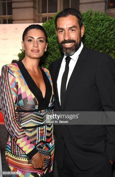 Jessica Lemarie and Robert Pirs attend The Nelson Mandela Foundation Gala Dinner at Rosewood London on April 24 2018 in London England