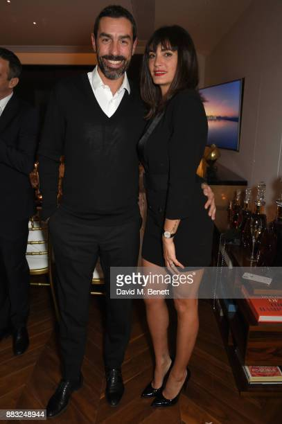 Jessica LemariePires and Robert Pires attend as LOUIS XIII and Dylan Jones GQ Editor in Chief cohost Intimate Dinner Celebrating the brand's '100...