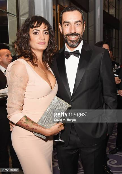 Jessica LemariePires and Robert Pires attend the 8th Global Gift Gala London in aid of Great Ormond Street Hospital Children's Charity at Corinthia...
