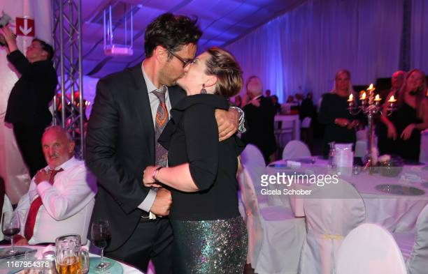 Jessica Libbertz and her husband Roman Libbertz during the EAGLES Praesidenten Golf Cup Gala Evening on September 13 2019 in Bad Griesbach Germany