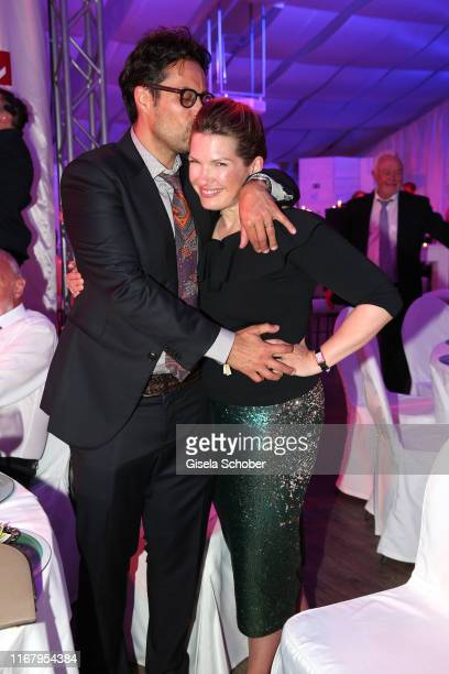 Jessica Libbertz and her husband Roman Libbertz during the EAGLES Praesidenten Golf Cup Gala Evening on September 13, 2019 in Bad Griesbach, Germany.