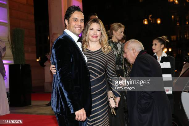 Jessica Libbertz and her husband Roman Libbertz during the German Sports Media Ball at Alte Oper on November 9, 2019 in Frankfurt am Main, Germany.