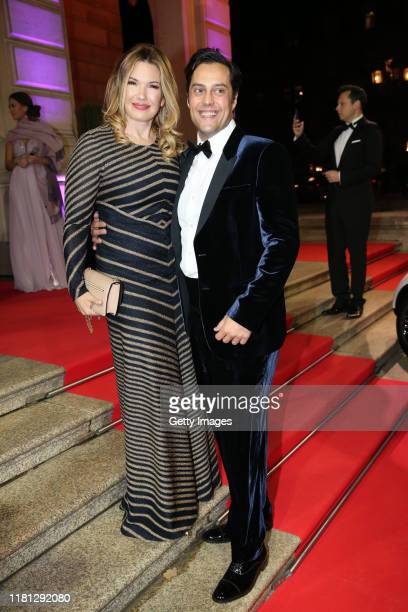 Jessica Libbertz and her husband Roman Libbertz during the German Sports Media Ball at Alte Oper on November 9 2019 in Frankfurt am Main Germany