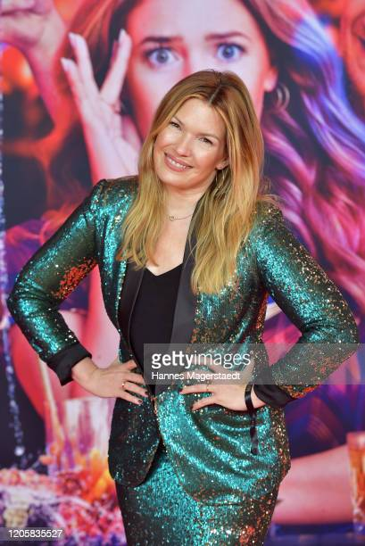 "Jessica Libbertz attends the premiere of ""Nightlife"" at Mathaeser Filmpalast on February 12, 2020 in Munich, Germany."