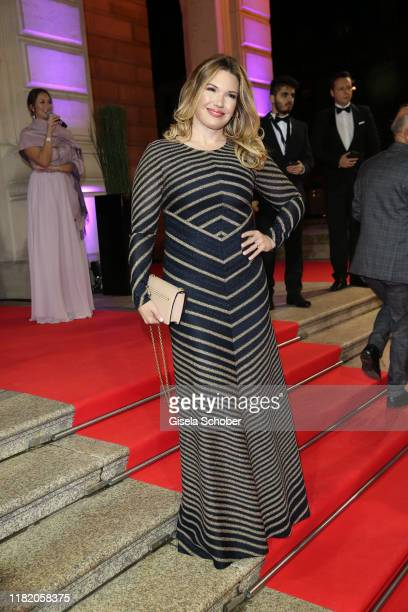 Jessica Libbertz during the German Sports Media Ball at Alte Oper on November 9, 2019 in Frankfurt am Main, Germany.