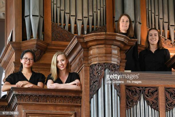 Jessica Lim Anna Lapwood Claire InnesHopkins and Lucy Morrell who make up part of a team of female organists who will perform the complete organ...