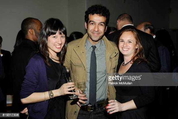 Jessica Lin Cox Kamrooz Aram and Rachel Leibowitz attend The Drawing Center 2010 Gala at The Drawing Center Tribeca Rooftop on April 21 2010 in New...