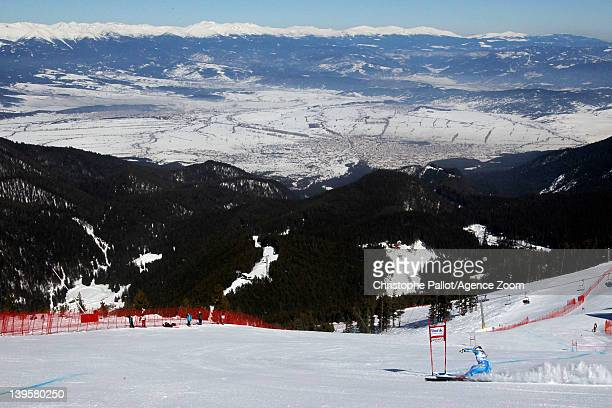 Jessica LindellVikarby of Sweden competes during the Audi FIS Alpine Ski World Cup Women's Downhill Training on February 23 2012 in Bansko Bulgaria