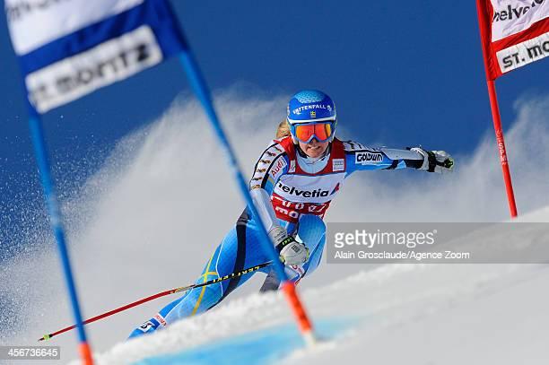 Jessica LindlVikarby of Sweden during the Audi FIS Alpine Ski World Cup Women's Giant Slalom on December 15 2013 in St Moritz Switzerland