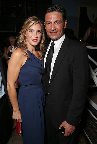 Jessica Lindsey and Fernando Colunga attend the after party for Pantelion Films'