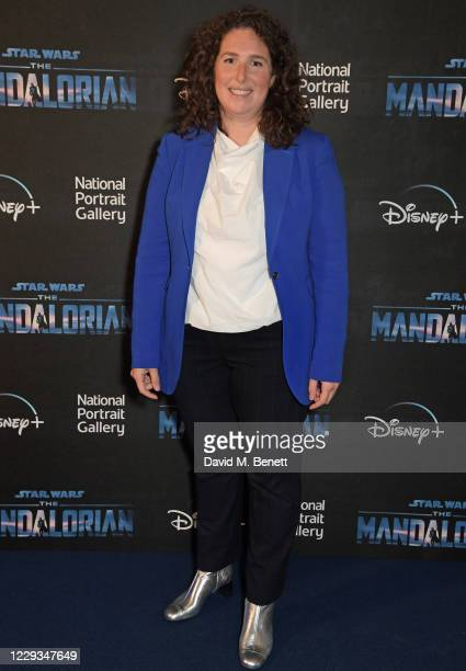 """Jessica Litwin, Director of Development at National Portrait Gallery, attends a private view of """"The Mandalorian And The Child"""", a special portrait..."""