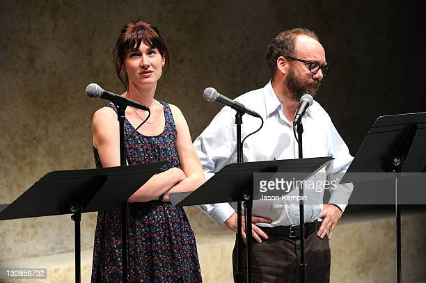 Jessica Love and Paul Giamatti attend The 2011 Steinberg Playwright Mimi Awards presented by The Harold and Mimi Steinberg Charitable Trust at...