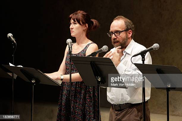 Jessica Love and Paul Giamatti speak at The 2011 Steinberg Playwright Mimi Awards presented by The Harold and Mimi Steinberg Charitable Trust at...