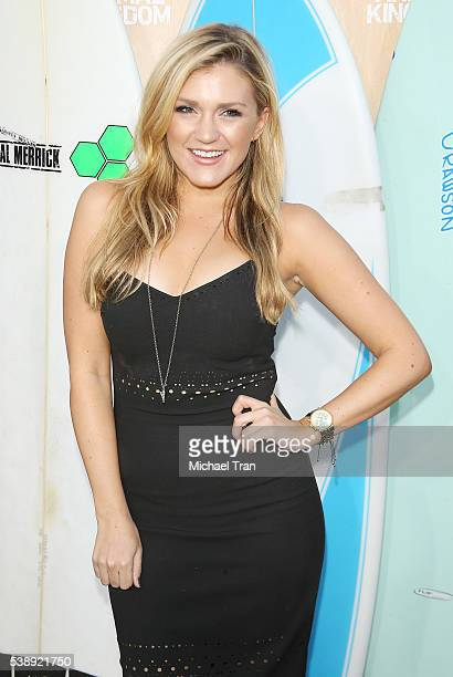 Jessica Lowe arrives at the Los Angeles premiere of TNT's Animal Kingdom held at The Rose Room on June 8 2016 in Venice California