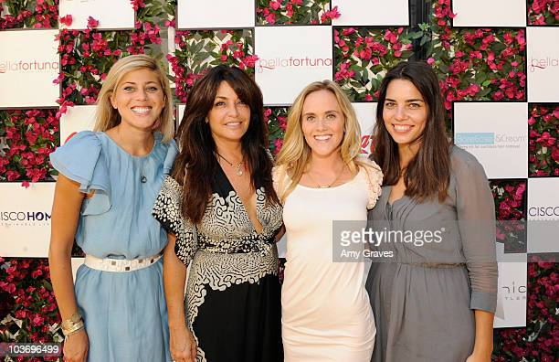 Jessica Lowe Jillian Woolstein Katie May and Amanda Levy attend the BellaStyle Garden Event on August 27 2010 in Los Angeles California