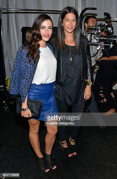Jessica Lowndes and Ebecca Minkoff attend Rebecca Minkoff during MercedesBenz Fashion Week Spring 2015 at The Pavilion at Lincoln Center on September...