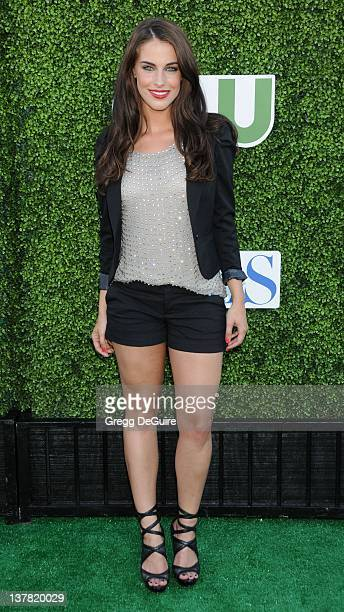 Jessica Lowndes arrives at the CBS The CW Showtime Summer Press Tour Party held at The Tent on July 28 2010 in Beverly Hills California