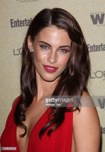 Jessica Lowndes arrives at the Entertainment Weekly and Women In Film preEMMY party held at The Sunset Marquis Hotel on August 27 2010 in West...