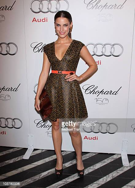 Jessica Lowndes arrives to the Audi/Chopard EMMY week red carpet style kickoff party held at Cecconi's Restaurant on August 22 2010 in Los Angeles...