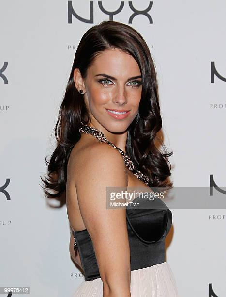 Jessica Lowndes arrives to the Nyx Professional Makeup decade1 year anniversary party held at The Roosevelt Hotel on May 18 2010 in Hollywood...