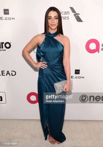 Jessica Lowndes attends 27th Annual Elton John AIDS Foundation Academy Awards Viewing Party Celebrating EJAF And The 91st Academy Awards on February...
