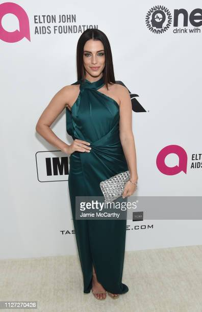 Jessica Lowndes attends the 27th annual Elton John AIDS Foundation Academy Awards Viewing Party sponsored by IMDb and Neuro Drinks celebrating EJAF...