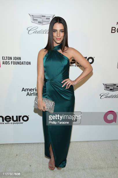Jessica Lowndes attends the 27th Annual Elton John AIDS Foundation Academy Awards Viewing Party Celebrating EJAF and The 91st Academy Awards on...