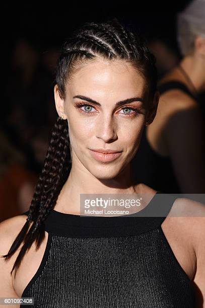 Jessica Lowndes attends the Cushnie Et Ochs fashion show during New York Fashion Week The Shows at The Dock Skylight at Moynihan Station on September...