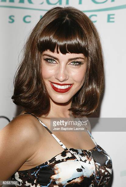 Jessica Lowndes attends the CW Network's 90210 Premiere Party on August 23, 2008 in Malibu, California.
