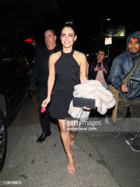 Jessica Lowndes is seen on February 21, 2019 in Los Angeles, California.